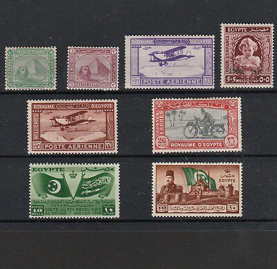 Egypt 1880-1950 Selection Of Mint Stamps Including 1926 Airmail Pair