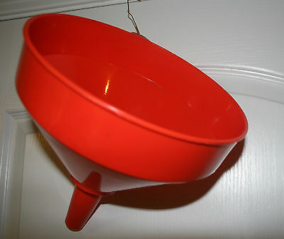 """Heavy Duty 10"""" INCH Plastic Funnel Gas Oil Canning Cooking 4 1/2 QTS 1 gallon +"""