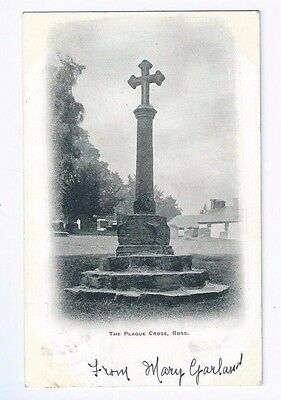 Postcard The Plague Cross Ross on Wye cancel 1903 Hereford