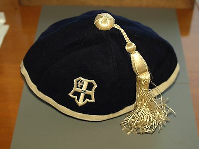 Vintage Eastbourne College cap with badge and tassel size 7 1/4 1930's