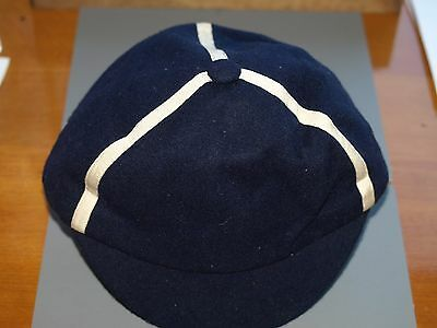 Vintage Eastbourne College cap with white trim size 7 1/4 1930's