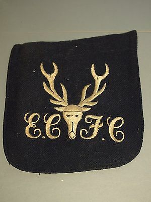 Vintage Eastbourne College blazer badge stag badge & initials 1930's