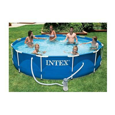 Intex 3.6m (12ft) Metal Frame Swimming Pool Set filter pump above ground strong