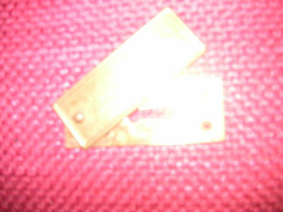 Single Victorian Solid Brass Ecussion Door Key Plate,  (13)