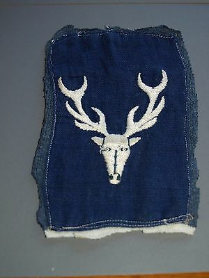 Vintage Eastbourne College stag badge cloth 1930's