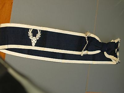 Vintage Eastbourne College boater trim band with stag badge 1930's