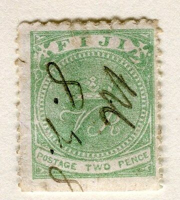 FIJI;  1878-99 early classic QV issue fine used 2d. value