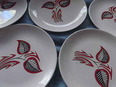WADE RETRO 1950s  SIDE PLATES X 6