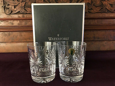 2 x Waterford Crystal Whisky Tumbler Glasses