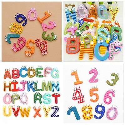 Magnetic 26 Letters 10 Numbers Childrens Kids Alphabet Spelling Fridge Magnets