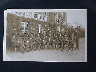 Ww1 Group Of Senior Nco's Of The Devonshire Regiment. Rppc In Good Condition.