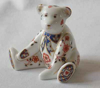 "Royal Crown Derby ""william"" Teddy Bear Figure,paperweight.perfect.1998."