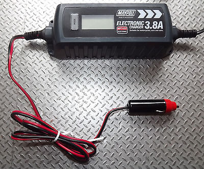 OPTIMISER BATTERY CHARGER CIGAR PLUG +CROCS CAR CAMPER VAN CARAVAN MOTORHOME 12v