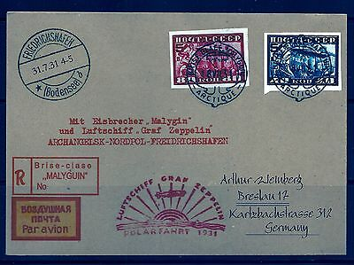 Pay 1/2 The Marked Price ,russia, Graf Zeppelin 1931 To Germany,polar Fahrt