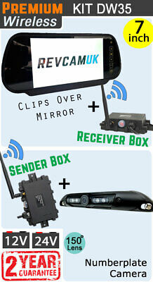 Digital Wireless Reversing Numberplate Camera Kit - No Interference -CCD Hi Spec
