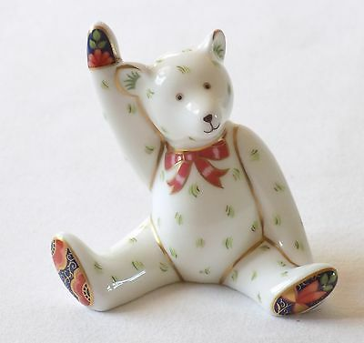 "Royal Crown Derby ""victoria"" Teddy Bear Figure,paperweight.perfect.1997."