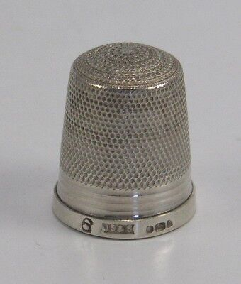 Vintage JS&S .925 sterling silver sewing thimble Sheffield 1977
