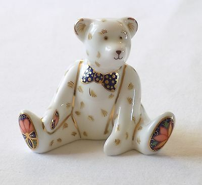 "Royal Crown Derby ""edward"" Teddy Bear Figure,paperweight.perfect.1997."