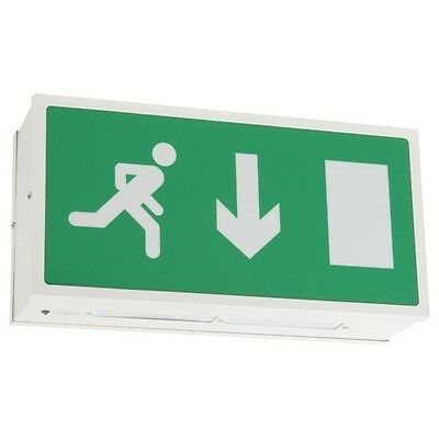 8W WATT EMERGENCY NON MAINTAINED or MAINTAINED EXIT BOX SIGN LIGHT with T5 TUBE