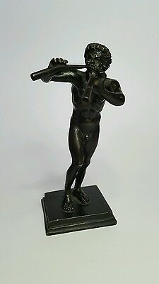 A Small Old Cast Bronze figure of Pan.