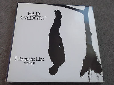 """Fad Gadget - Life On The Line 1982 12"""" Mute Indie Rock"""