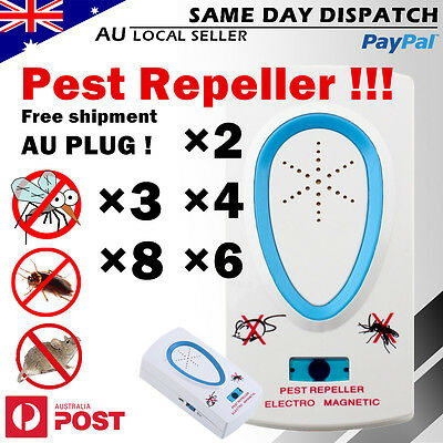 Pest Repeller Ultrasonic Electronic Mouse Rat Mosquito Insect Rodent Control