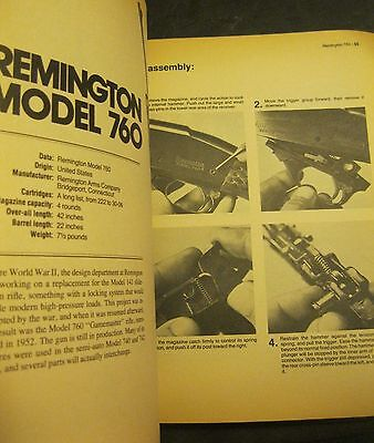 vintage SPORTING RIFLE TAKE DOWN & REASSEMBLY GUIDE BOOK ~ nice!