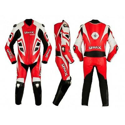 SPARX racing Leather Motorcycle Motorbike Suit Target 1pc - Size L