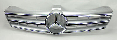Mercedes CLS Class W219 05-08 3 Fin Front Hood Sport Silver Chrome Grill