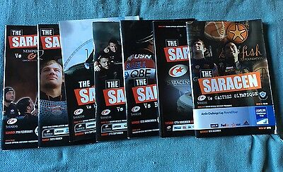 Collection of Official Saracens Matchday Programmes : 2009/2010 Season