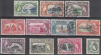 Trinidad and Tobago QEII 1953-59 SG267/77 Used Set to $1.20