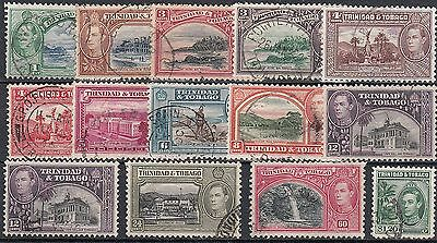 Trinidad and Tobago 1938-44 SG246/55 Used Set to $1.20