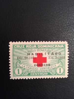 Dominican 1932 Red Cross OVERPRINTED Sc 265 MNH