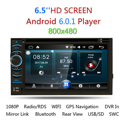 "6.2"" 2 Din Navigatore Autoradio GPS Car Stereo DVD Player iPod MP3 HD CD USB IT"