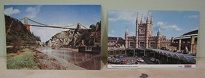BRISTOL Temple Meads Railway Station & Clifton Suspension Bridge~Unused Cards