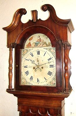 A very Grand Victorian Mahogany Antique Longcase Grandfather Clock C1840-60