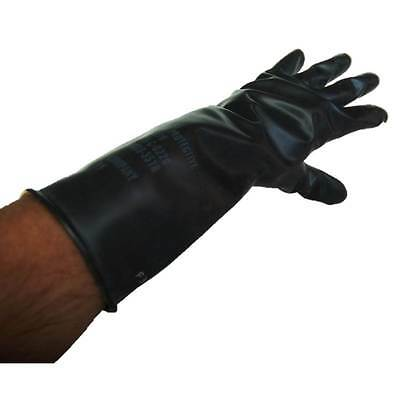 One (1) Pair Norton Butyl Rubber Industrial Chemical Resistant Gloves Medium