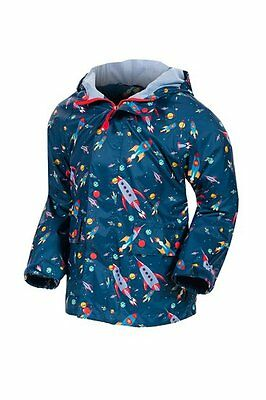 Target Dry Oscar, Boys Waterproof Coat, Outer Space, Size 18-24 Months