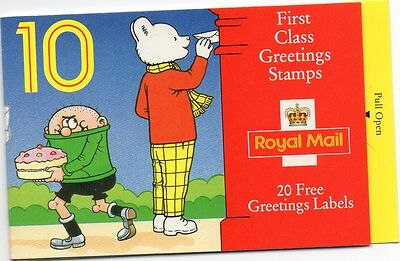 postal/stamps/greetings booklet/Rupert Bear 1993/mint/unused