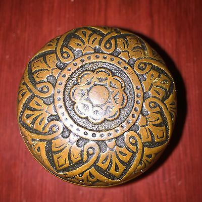 Antique Fancy Victorian 8fold Symmetry Cast Brass Doorknob