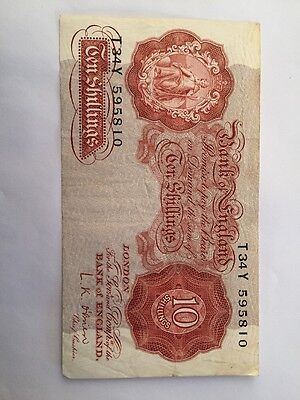 Bank Of England 10 Shillings Banknote