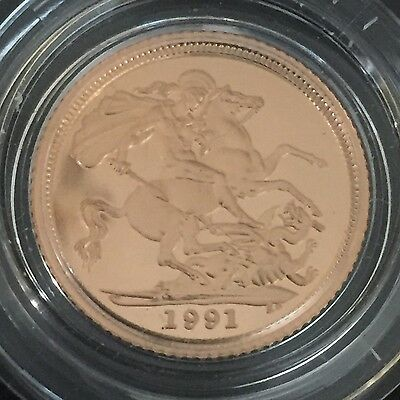 1991 gold proof half sovereign
