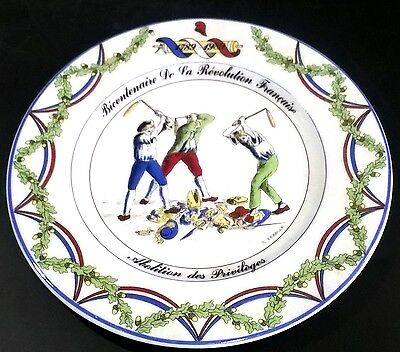 Aplico French Revolution Bicentennial Commemorative Plate Abolition Of Privilege