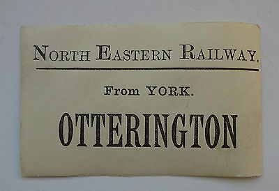 North Eastern Railway (Ner) Luggage Label From York To Otterington