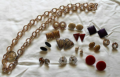 Vintage Costume Jewelry Mixed Lot Post Earrings 1980s?
