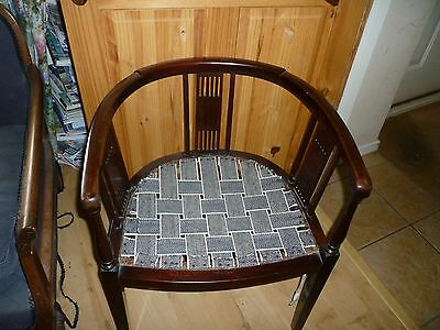 Antique Edwardian Mahogany Dining Bedroom Desk Dressing Table Tub Chair