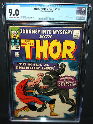 Journey Into Mystery #118 - Thor - 1st App of the Destroyer CGC Grade 9.0 - 1965