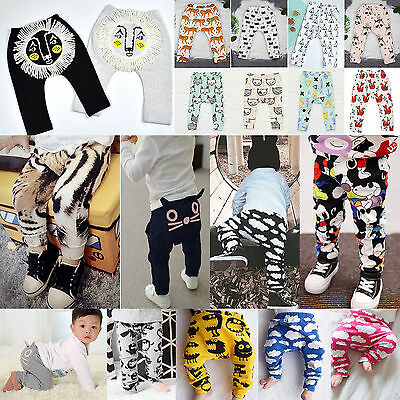 Kids Baby Boy Girls Clothes Bottom Leggings Toddler Harem Pants Trousers Outfits