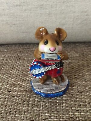 Wee Forest Folk One Mouse Band Patriotic Red, White & Blue Retired