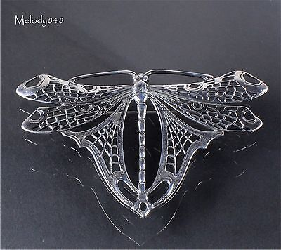 Sterling Silver ART NOUVEAU Design Large Dragonfly Brooch Pin G. L. NEDERLAND